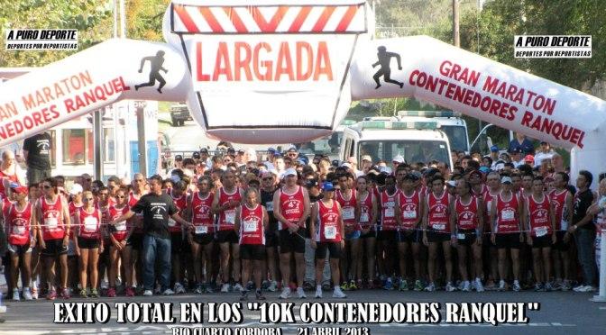 """ROSA GODOY e ISMAEL LANGAT LOS GANADORES DE LOS """"10K CONTENEDORES RANQUEL"""" 21 ABRIL 2013 RIO CUARTO"""
