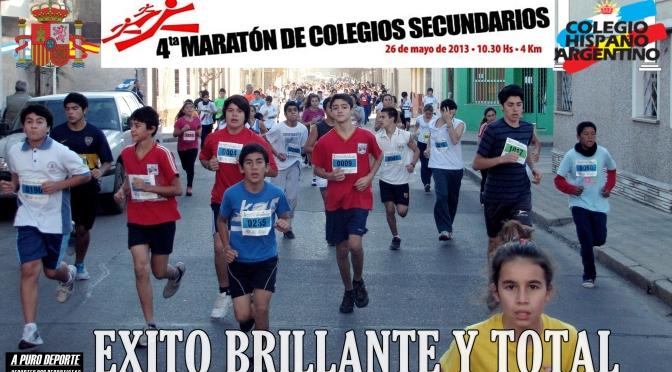 RESULTADOS 4ta MARATON DE COLEGIOS SECUNDARIOS 26-Mayo-2013 ORGANIZO COLEGIO HISPANO ARGENTINO CIUDAD DE RIO CUARTO