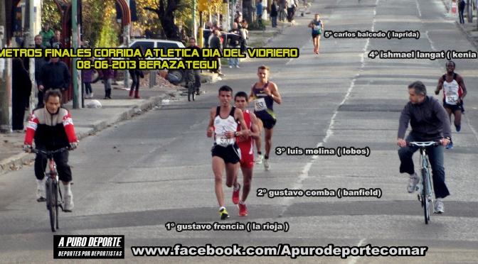Gustavo FRENCIA y Elisa COBANEA son los Atletas que Ganaron la CORRIDA DIA DEL VIDRIERO en Berazategui 08- junio-2013