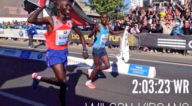 Wilson Kipsang nuevo Record Mundial de Maraton con 02:03:23 en la 40. BMW BERLIN-MARATHON 29 de setiembre del 2013
