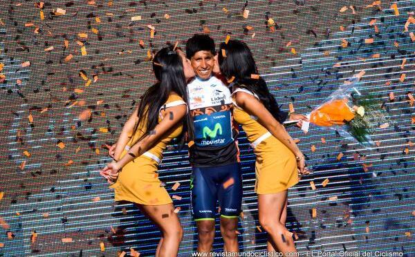 El Ciclista Nairo Quintana del (Movistar Team) es el nuevo Campeon del Tour de San Luis 2014.