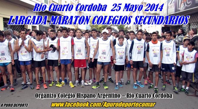 Daisy Marlene SANTELLAN y Juan Cruz FLORIT, fueron los Ganadores de la Corrida Atletica De Colegios Secundarios en Río Cuarto 25 Mayo 2014