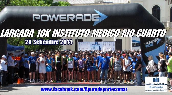 Gabriela CARENA y Claudio PALACIOS fueron los Triunfadores en los 10K INSTITUTO MEDICO CIUDAD DE RIO CUARTO 28 Setiembre 2014