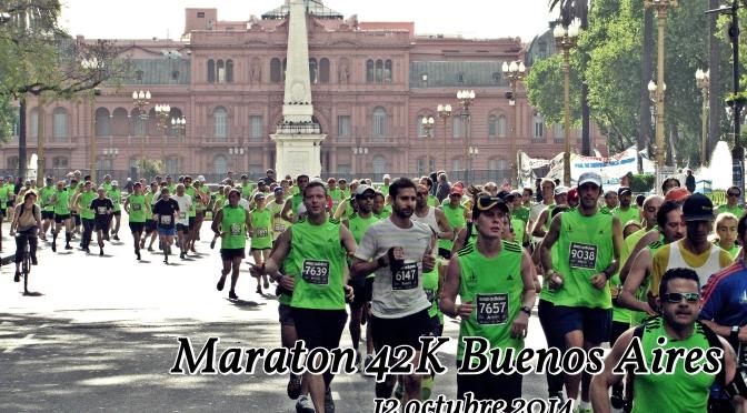 Fotografias y Video de MARATON 42K Ciudad de Buenos Aires 12 octubre 2014