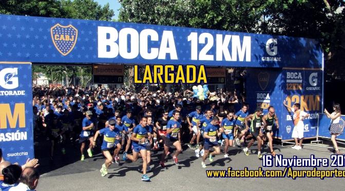 Victorias de los Atletas Ulises Sanguinetti (38m 43s) y Marta González (52m 30s) en los 12K de BOCA 16 Noviembre 2014 Buenos Aires