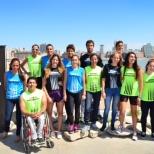 Foto Deportistas remeras Maratón 2014
