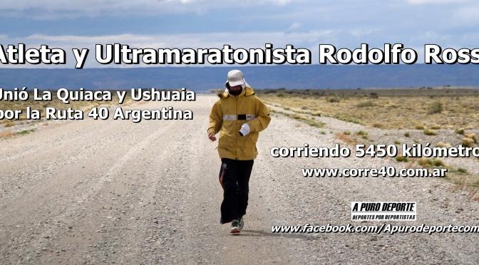 El Atleta y ultramaratonista Rodolfo Rossi culmino su gran Desafio que unió La Quiaca y Ushuaia corriendo 5450 kilómetros.