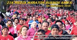 VIDEOS Y FOTOGRAFIAS DE ATLETAS EN 21K MEDIA MARATON BUENOS AIRES 04-SETIEMBRE-2016