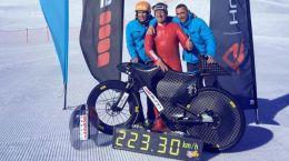 Records de velocidad en Bicicleta Eric BARONE (ciclista deportesextremos)