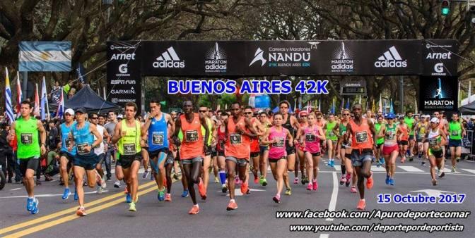 MARATON CIUDAD DE BUENOS AIRES 42K, INFORME 15 OCTUBRE 2017, FOTOGRAFIAS, VIDEOS Y RESULTADOS DE LA COMPETENCIA.