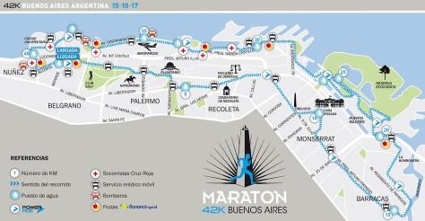 mapa de la maraton 42k