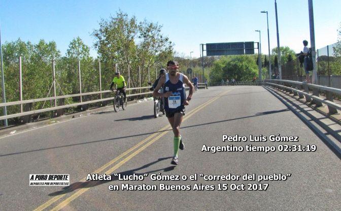 El Atleta Pedro Luis Gómez  se clasifico como el mejor argentino en Maratón Ciudad de Buenos Aires, 15 octubre 2017.
