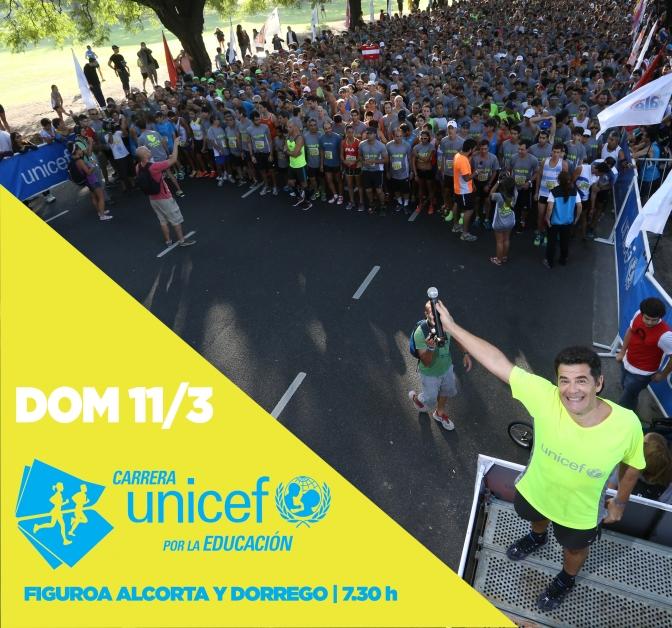 La Carrera UNICEF por la Educación el 11 de Marzo 2018 abrirá nuevamente el calendario de Buenos Aires.