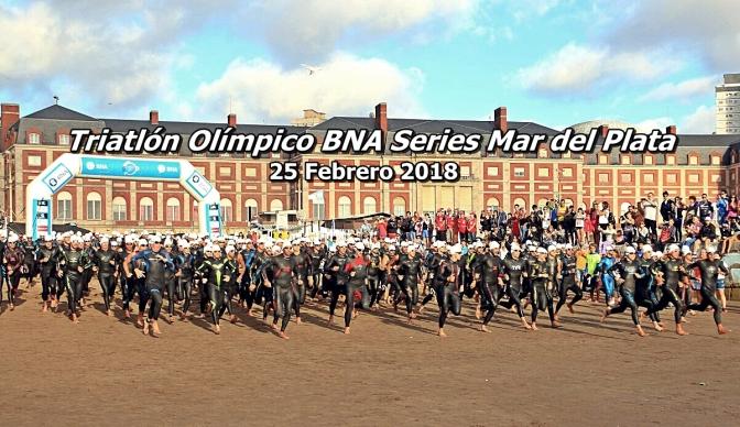 Mar del Plata vivió una fiesta con el Triatlón Olímpico BNA Series 25 febrero 2018.