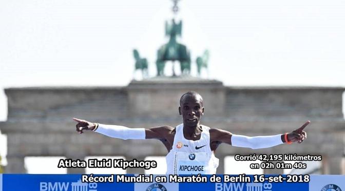 Eliud Kipchoge batió el Récord Mundial en Maratón de Berlín, 16 septiembre 2018.