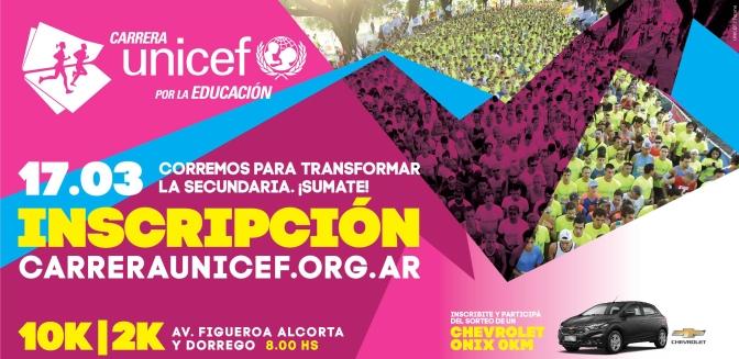 17 Marzo 2019, Carrera UNICEF por la Educación Buenos Aires Argentina