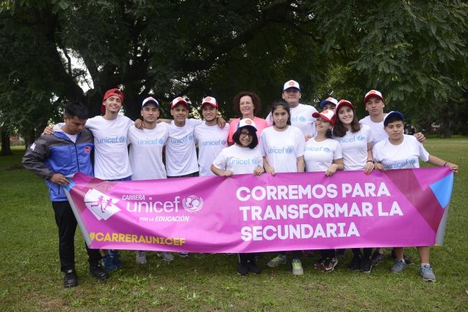 Siete mil corredores presentes en el evento UNICEF por la Educación 17 Marzo 2019 Buenos Aires Argentina