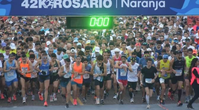 DARIO RIOS Y CELESTE TOLEDO GANARON LA MARATON DE LA BANDERA EN ROSARIO 23-06-2019