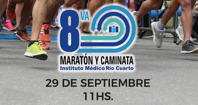 El próximo 29 de setiembre 2019 se realiza la 8va edición de la corrida atlética y caminata del Instituto Medico Rio Cuarto.